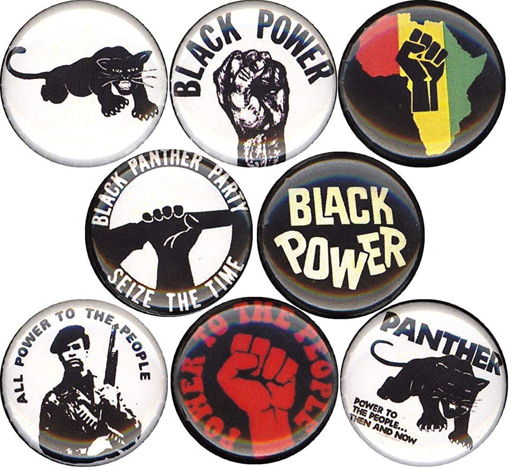 BLACK PANTHER PARTY #2 8 NEW 1 Inch (25mm) Set of 8 Pinback Buttons Badges Pins 1""
