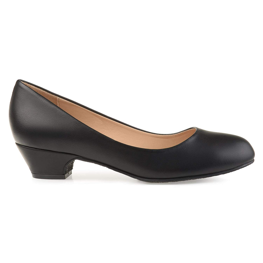 Brinley Co. Womens Soren Classic Faux Leather Comfort-Sole Heels