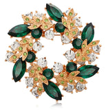 Kemstone Rose Gold Plated Cubic Zirconia Flower Brooch Bouquet for Women