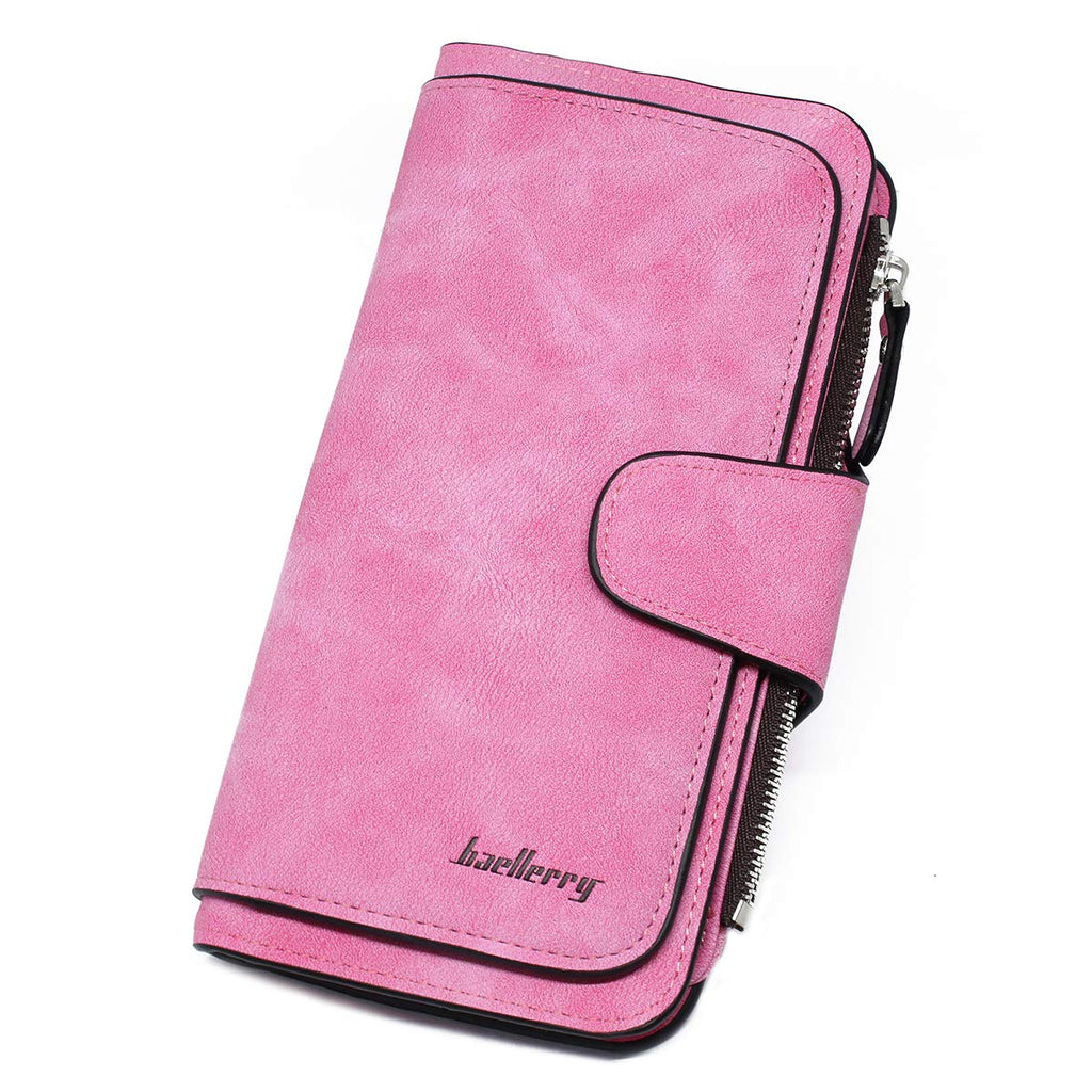 imeetu Wallet for Women PU Leather Clutch Phone Coin Purse Long Ladies Credit Card Holder Organizer