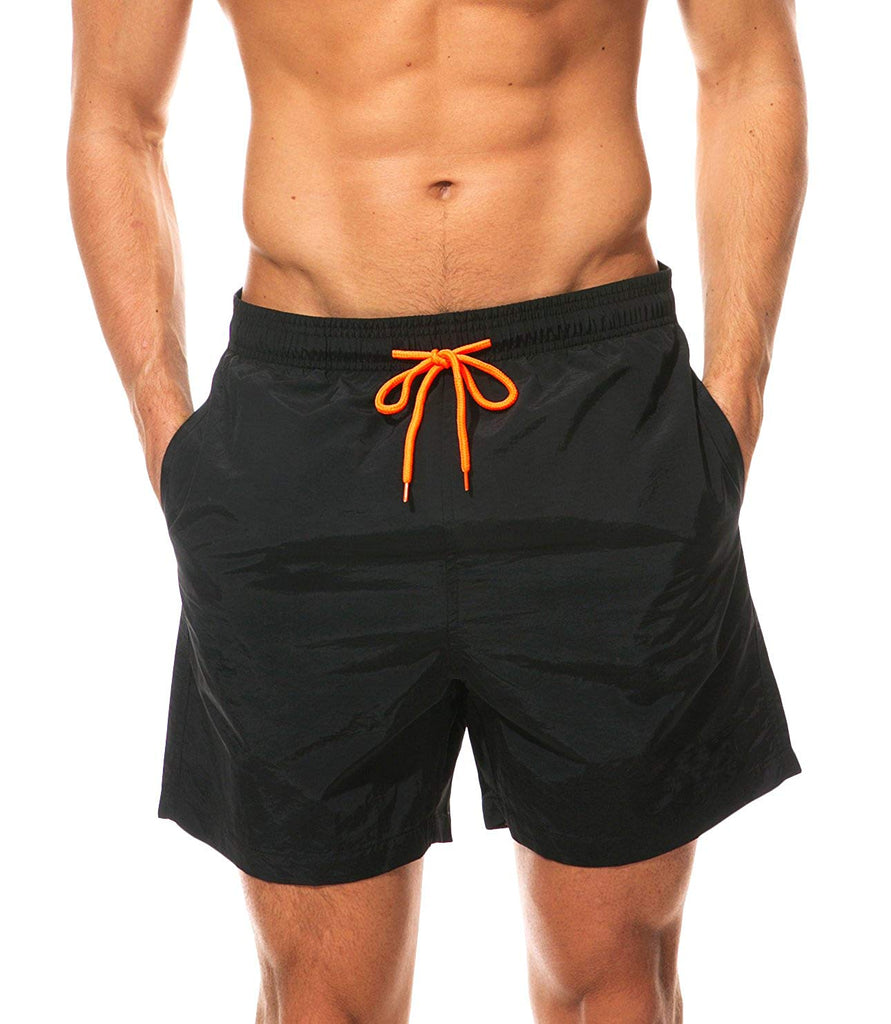 WUAMBO Men's Solid Board Shorts Fashion Swim Trunk