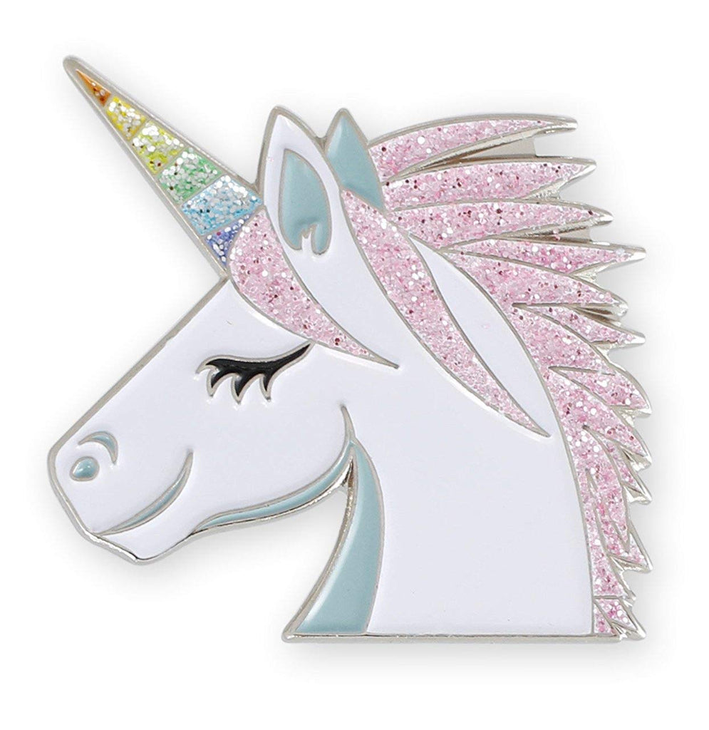 Forge Rainbow Unicorn Glitter Enamel Lapel Pin