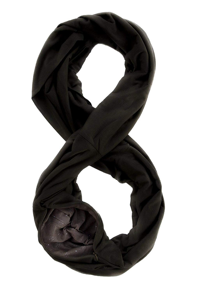 WAYPOINT GOODS Travel Scarf // Infinity Scarf with Hidden Pocket (Onyx)