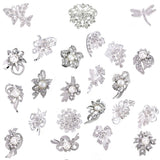 Ezing Lot 24pc Shining Rhinestone Crystal Brooches Pins DIY Wedding Bouquet Kit
