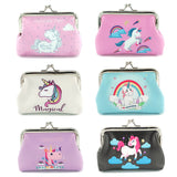 Elesa Miracle 6pc Women Girl Unicorn Coin Purse Clutch Pouch Wallet Value Set