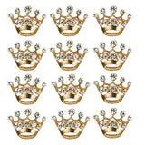 Tinksky Diamante Wedding Party Pageant Tiara Crown Corsage Brooch Pin Valentine's Day Gift , pack of 12