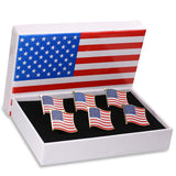 Exquisite American Flag Lapel Pin -The Stars and Stripes -Solid Metal Flag Lapel Pin-Gold Tone (6 with Gift Box)