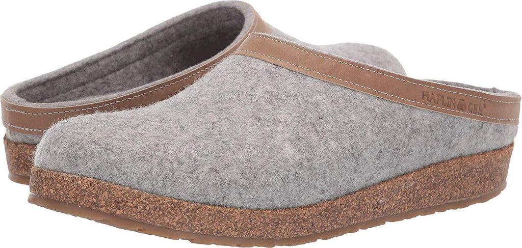 Haflinger Unisex GZL Leather Trim Grizzly Clog