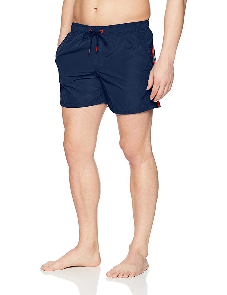 Sundek Men's Elastic Waist 14 Inch Swim Trunk