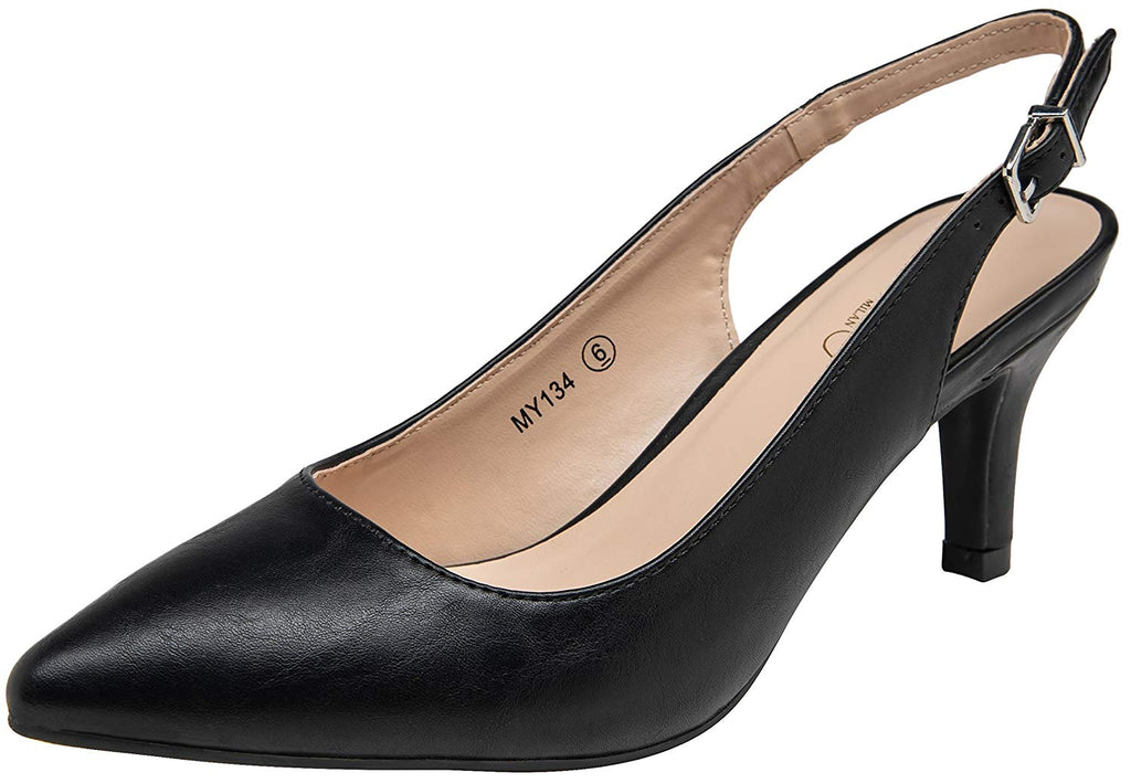 VOSTEY Women Low Heel Shoes Slingback Pumps