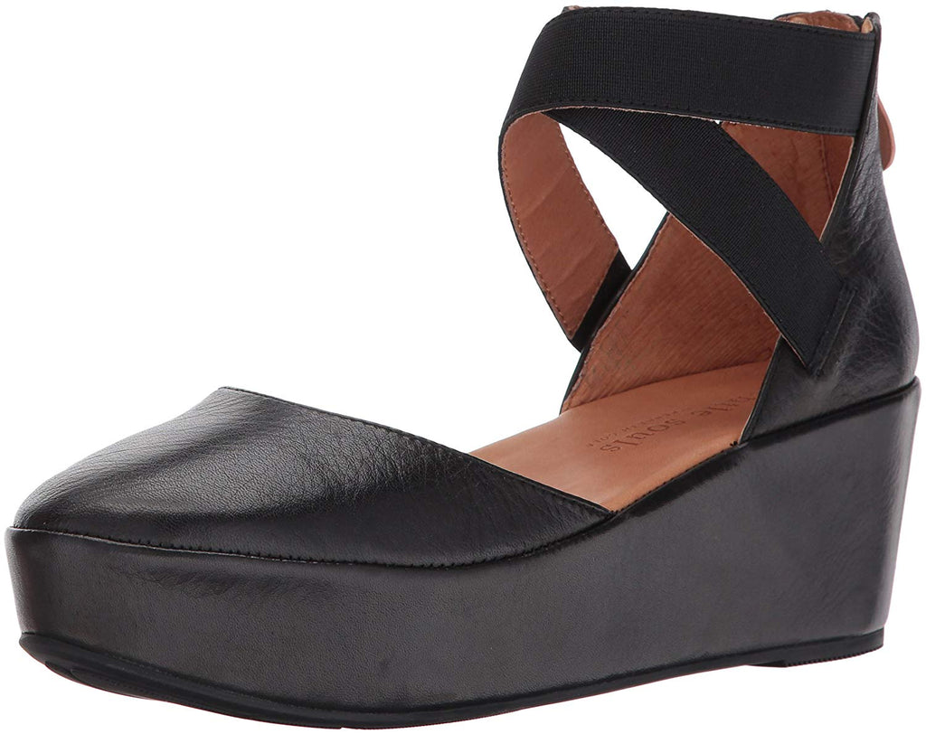 Gentle Souls by Kenneth Cole NYSSA PLATFORM WEDGE WITH ELASTIC ANKLE STRAPS Shoe