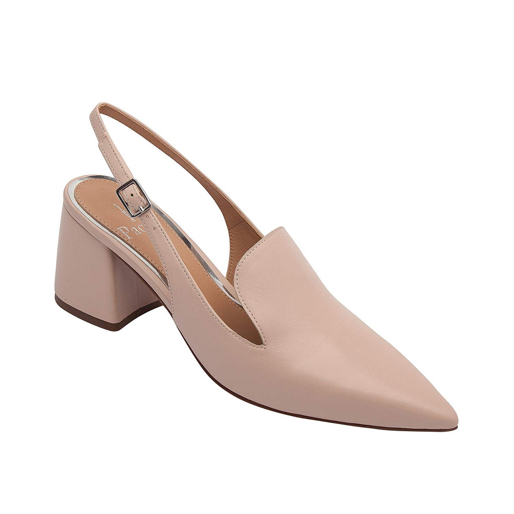 Linea Paolo Carly | Women's Pointy Toe Block Heel Leather Slingback