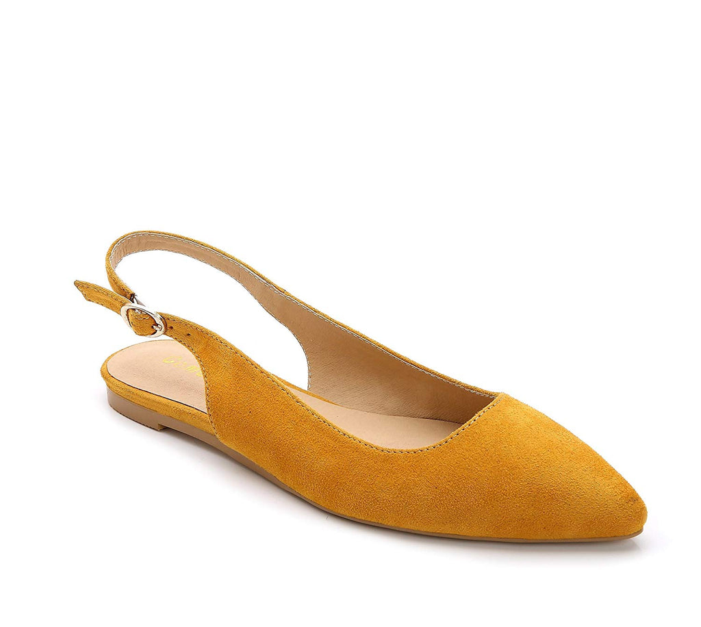ComeShun Womens Shoes Closed Pointed Toe Flats Slingback Dress Pumps
