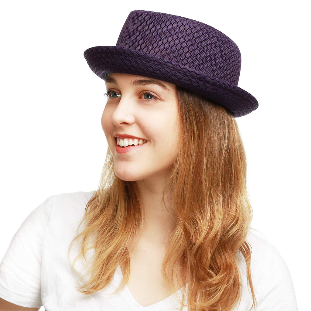 THE HAT DEPOT Unisex Light Weight Classic Soft Cool Mesh Pork Pie Hat