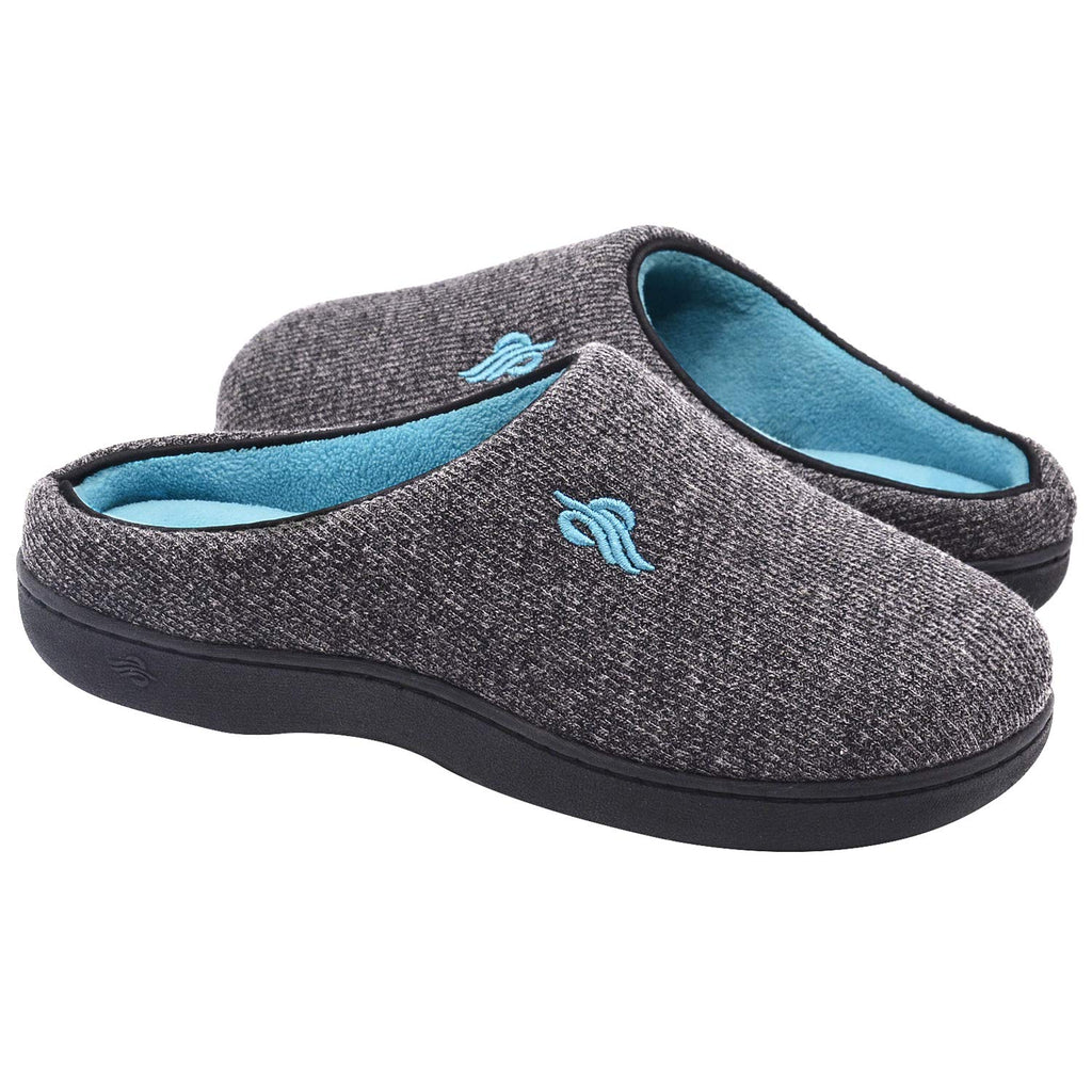 Wishcotton Men's Women's Memory Foam Anti-Slip Breathable Slip on House Slippers