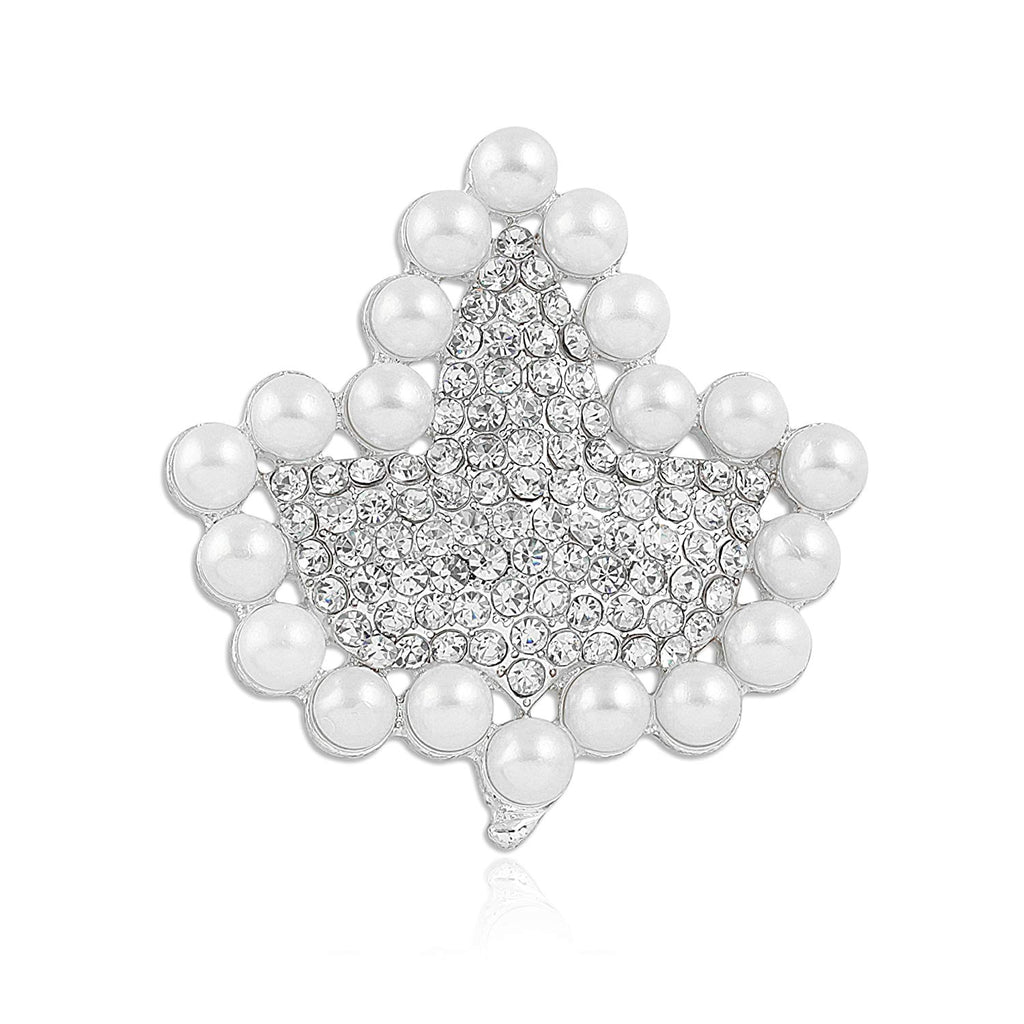 Divine Nine Depot Sparkling Faux Pearl and Rhinestone Ivy Brooch