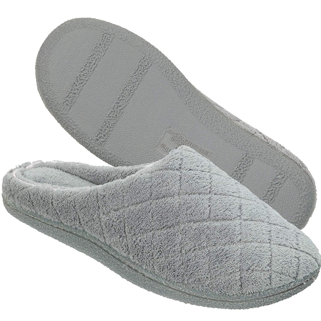 Dearfoams Women's Quilted Microfiber Terry Clog Slipper