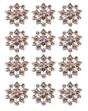 ZAKI L'vow Crystal Floriated Brooches Scarves Buckle Collar Pin Corsage Bouquet Kit Pack of 12