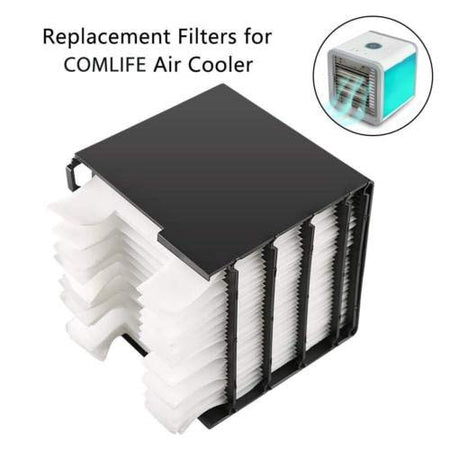 Arctic Air Personal Space Cooler Replacement Filte Space Cooler  Filter Portable LED Table Fan, Ultra-Quiet Table Fan for Home Office Bedroom