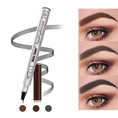 Eyebrow Tattoo Pen Microblading Eyebrow Pencil Tattoo Brow Ink Pen with a Micro-Fork Tip Applicator Creates Natural Looking Brows Stays on All Day