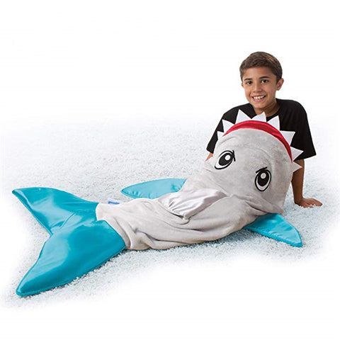 Snuggie Tails SHARK Tails Comfy Cozy Super Soft Blanket for Kids