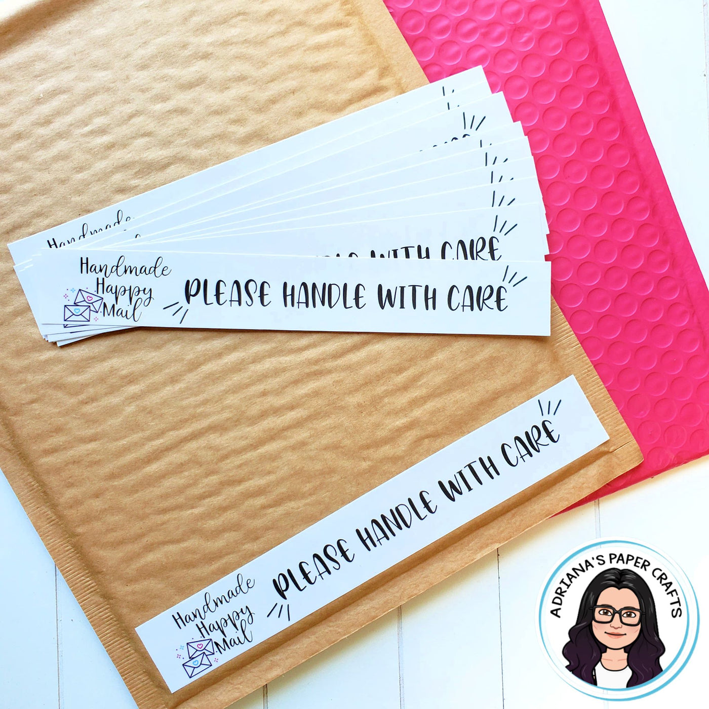 Handmade Happy Mail Labels - INSTANT DOWNLOAD