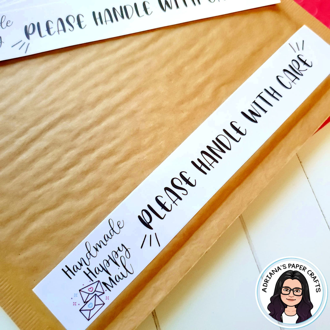 Handmade Happy Mail Labels - Set of 12