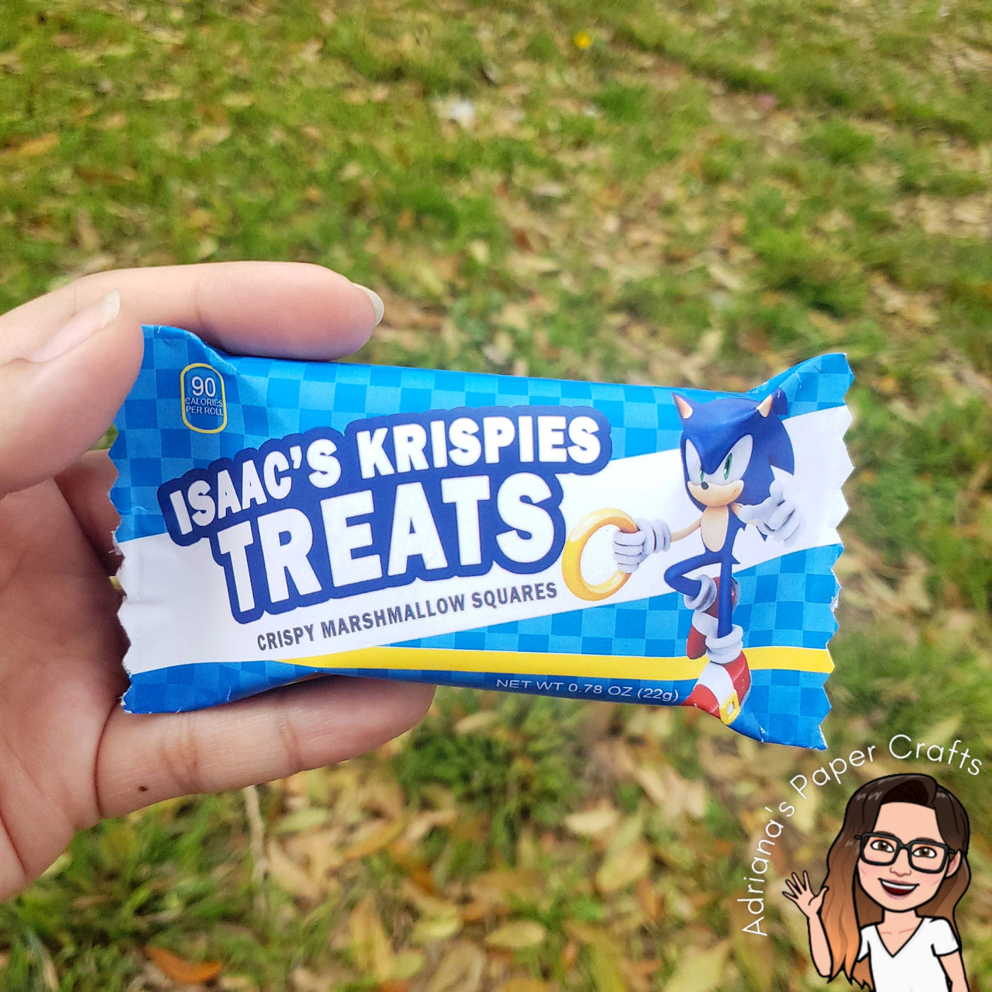 Printable Rice Krispies Treat Wrapper