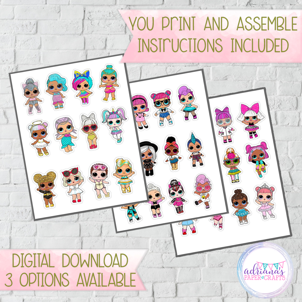Printable Lol Dolls