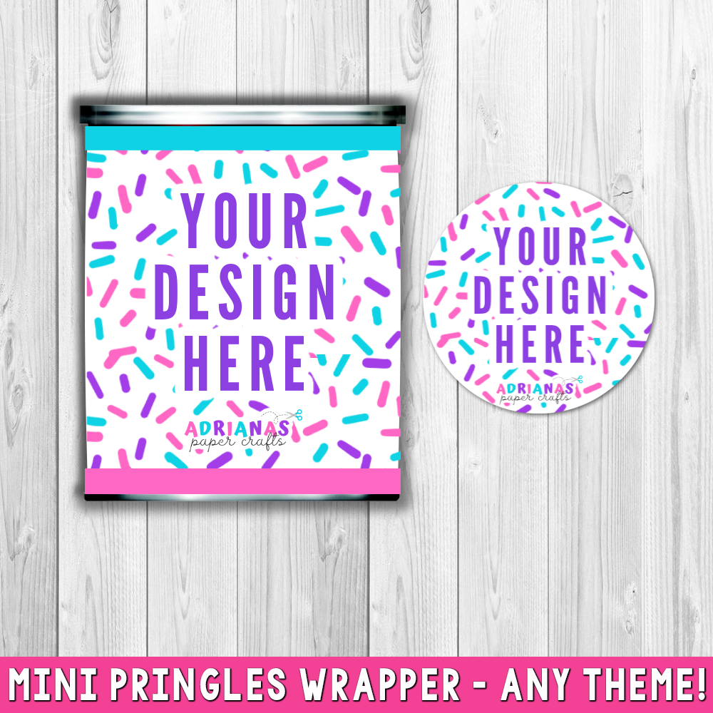 Printable Mini Pringles Wrappers