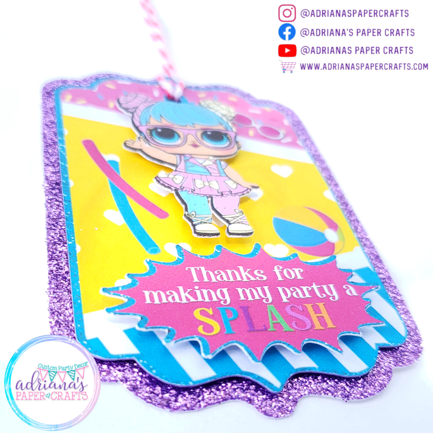 LOL Surprise Dolls Party Thank You Tags