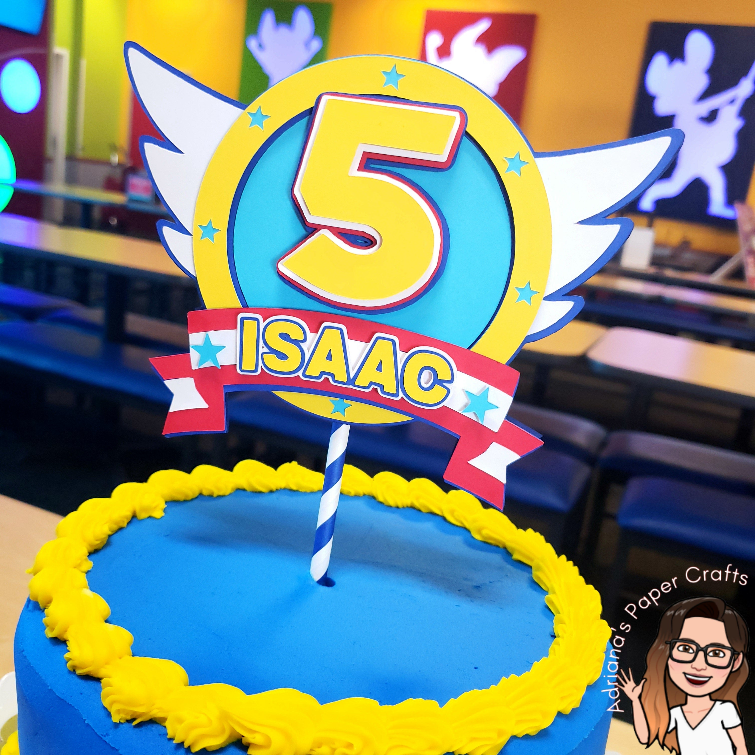 Outstanding Sonic Birthday Party Cake Topper Adrianas Paper Crafts Funny Birthday Cards Online Alyptdamsfinfo