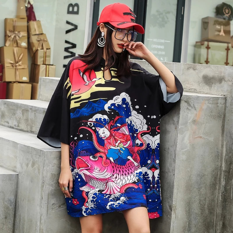 Mona Japanese Over Size Dress