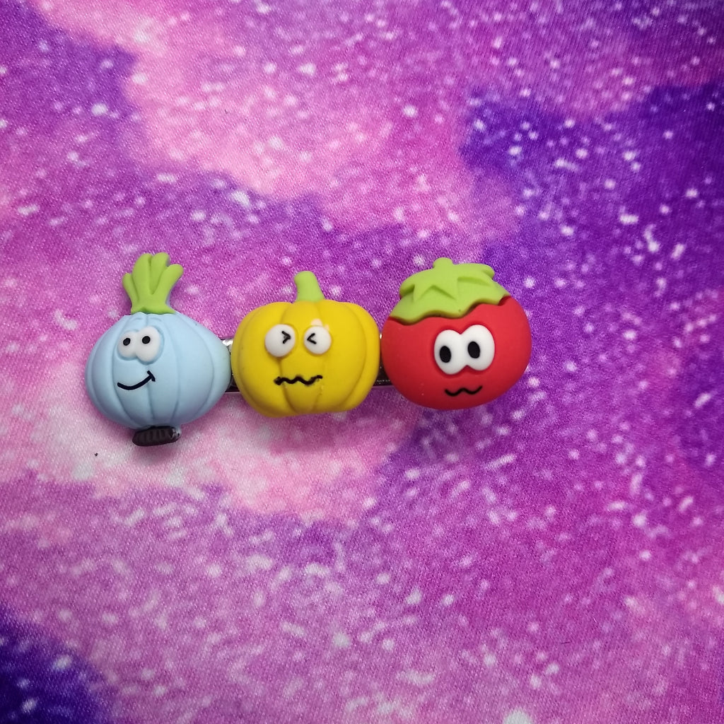 Veggie Cuteness Hair Clips