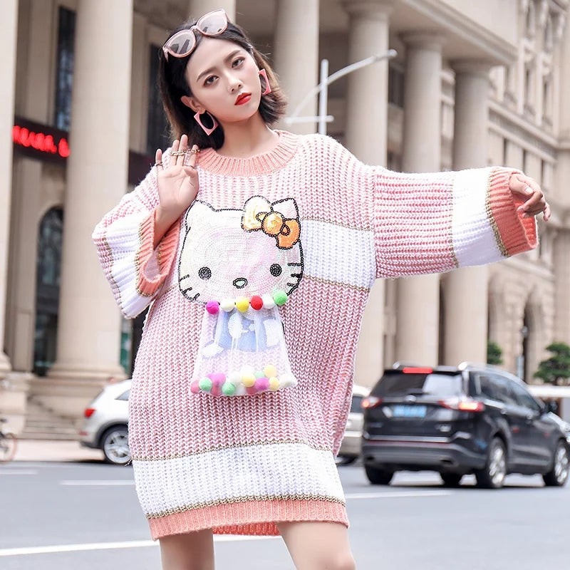 Kitty PonPon Sweater Dress