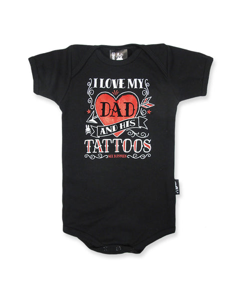 I Love My Dad Tattoo Baby Romper