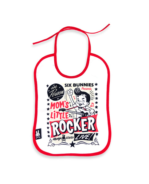 Mommy Little Rocker Bib By Six Bunnies