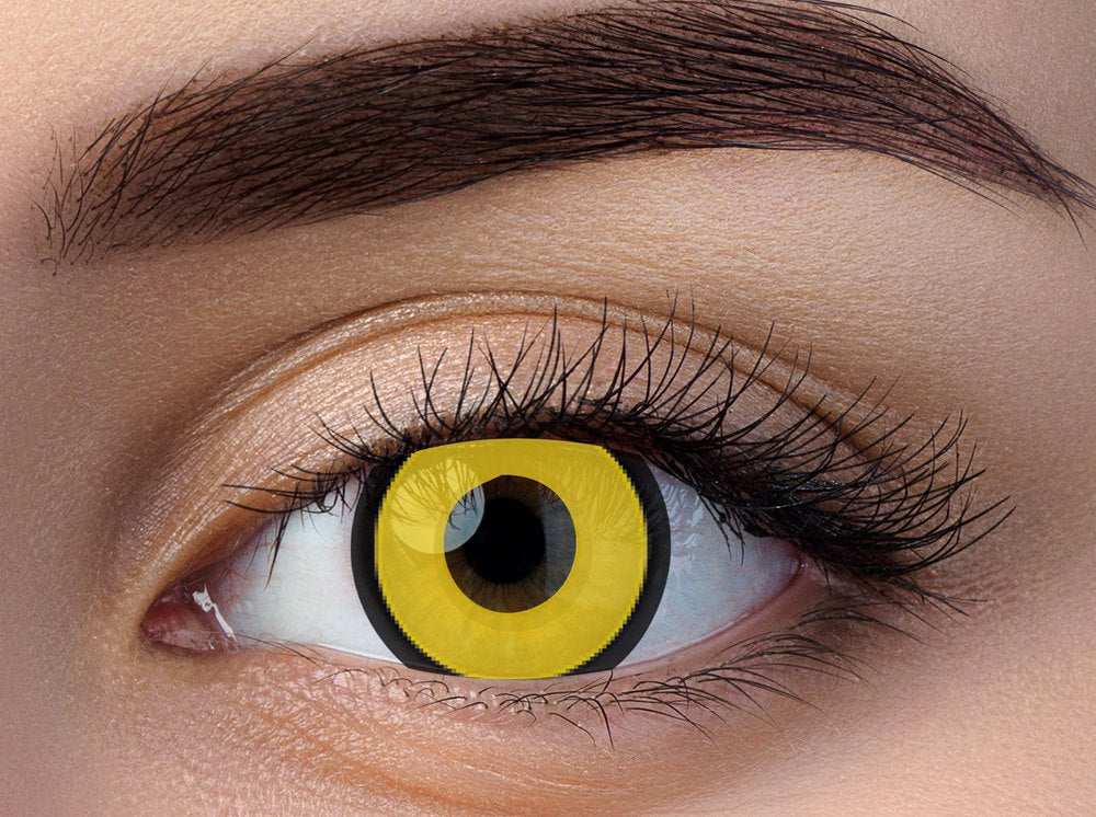 Dark Yellow Crazy Contact Lenses