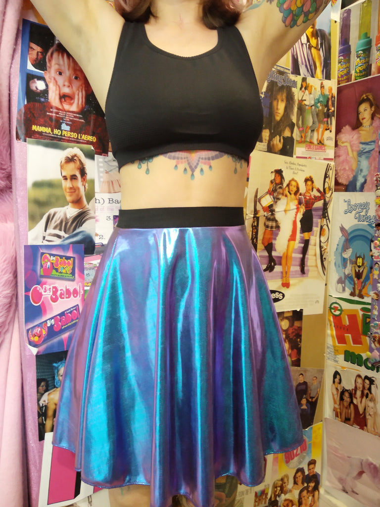 Metallic Holo Skirt By Miss Sunshine TLV