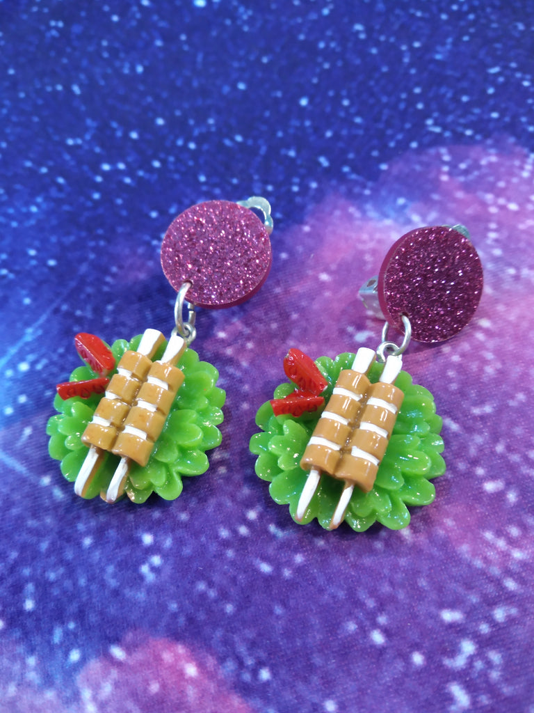 Japanese Meal Clips Earrings