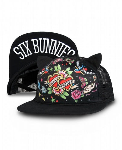 Tattoo Flash Ears Hat By Six Bunnies