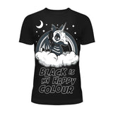 Black Is My Happy Colour T By Cupcake Cult
