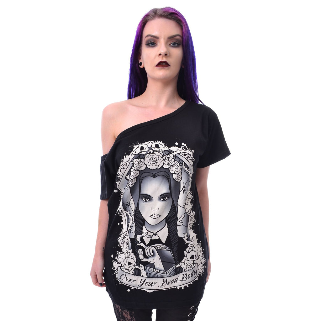 Over Your Dead Body Off Shoulder T By Heartless
