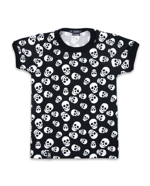 Polka Skulls Kids T By Six Bunnies