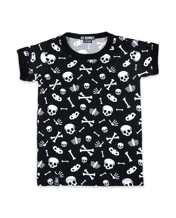 Skulls T-Shirt By Six Bunnies