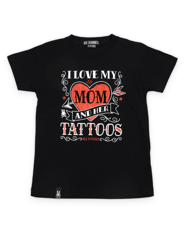Love My Mom Tattoo T-Shirt By Six Bunnies