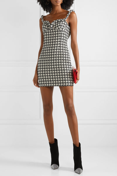 Classic Houndstooth Print on Cotton Twill