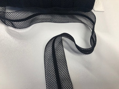 Black Mesh Stretch Binding Trim