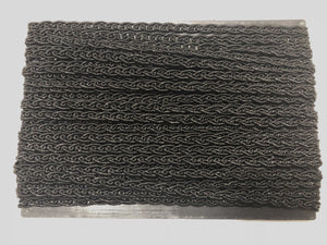 Black Lurex Corded Braid Trim