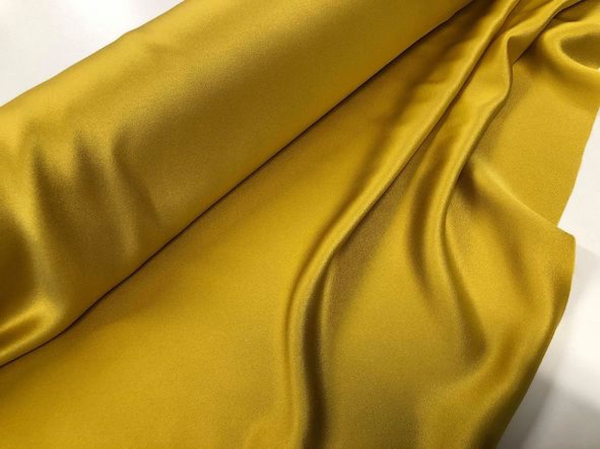 Heavy Crepe back Satin, Mustard Gold